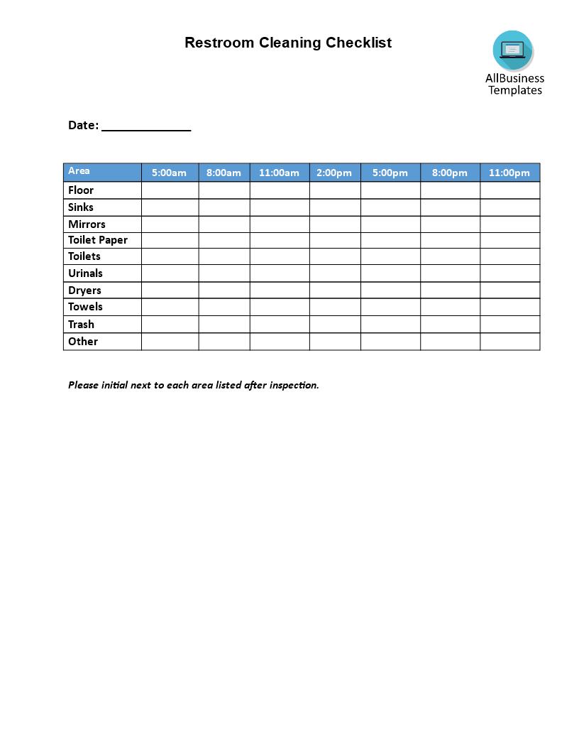 how to clean a church checklist
