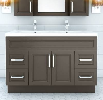 55 Inch Double Sink Vanity With Images Double Vanity Bathroom