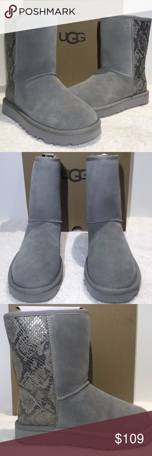 9a6f9a40650 UGG Classic Short Metallic Snake Boots 1101473 UGG Classic Short ...