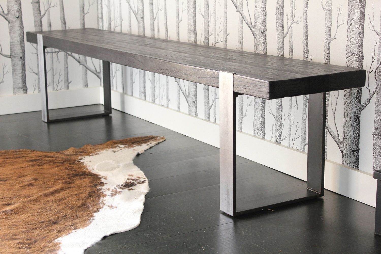 industrial modern furniture. The Industrial Modern Bench (scorched/darkened-brushed). $595.00, Via Etsy Furniture E