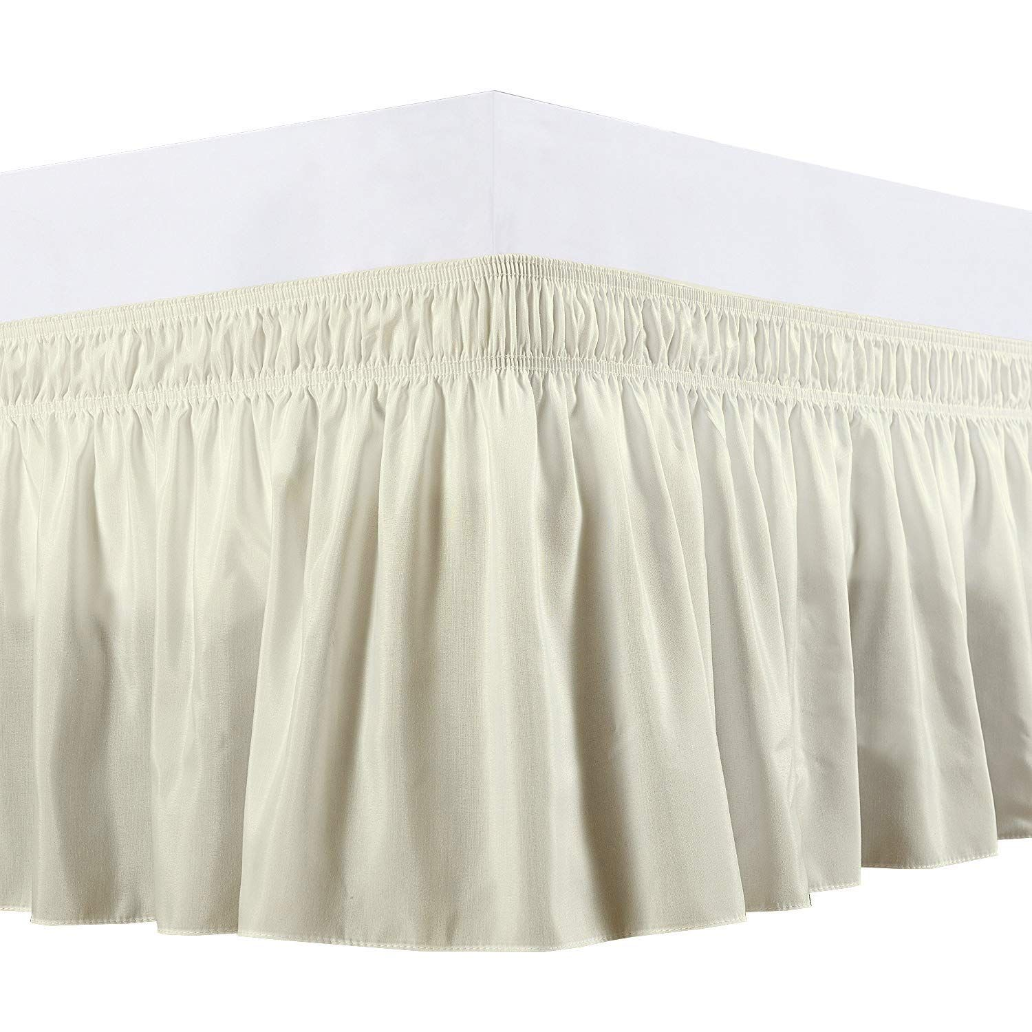 White Sheer Cotton Voile Ruffled Bed Skirt Dust Ruffle 15 Or 18 Drop Twin Full Queen King White Bed Skirt Bedskirt Greenland Home Fashions