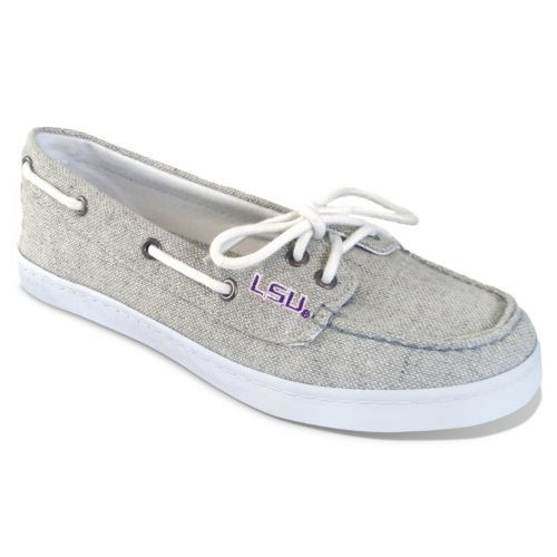 Campus Cruzerz LSU Tigers Kauai Boat Shoes - Women (Grey) (683606713569) Check out our entire selection of NCAA gear, including these LSU Tigers Kauai Boat Shoes - Women, at Kohl's.
