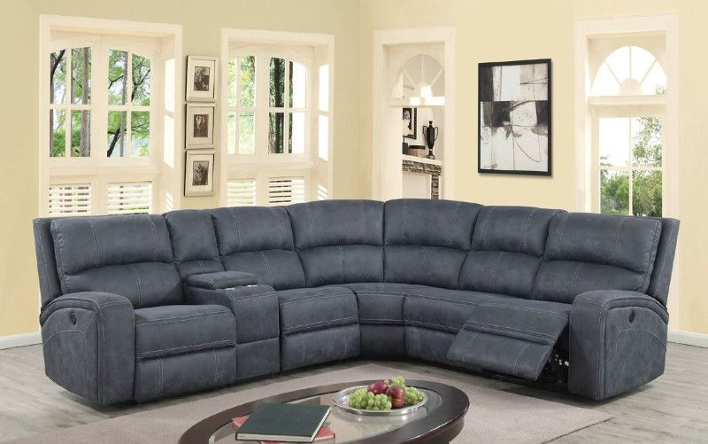 Solari 3 Pc Solari Gray Soft Suede Fabric Power Motion Modular Sectional Sofa Recliner Ends Modular Sectional Sofa Reclining Sectional Sectional Sofa