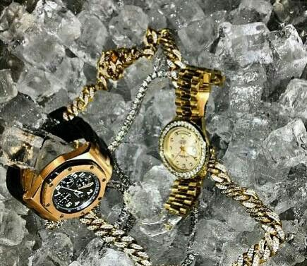 The Golds In ICE!!! | Cheap jewelry, Fashion watches ...