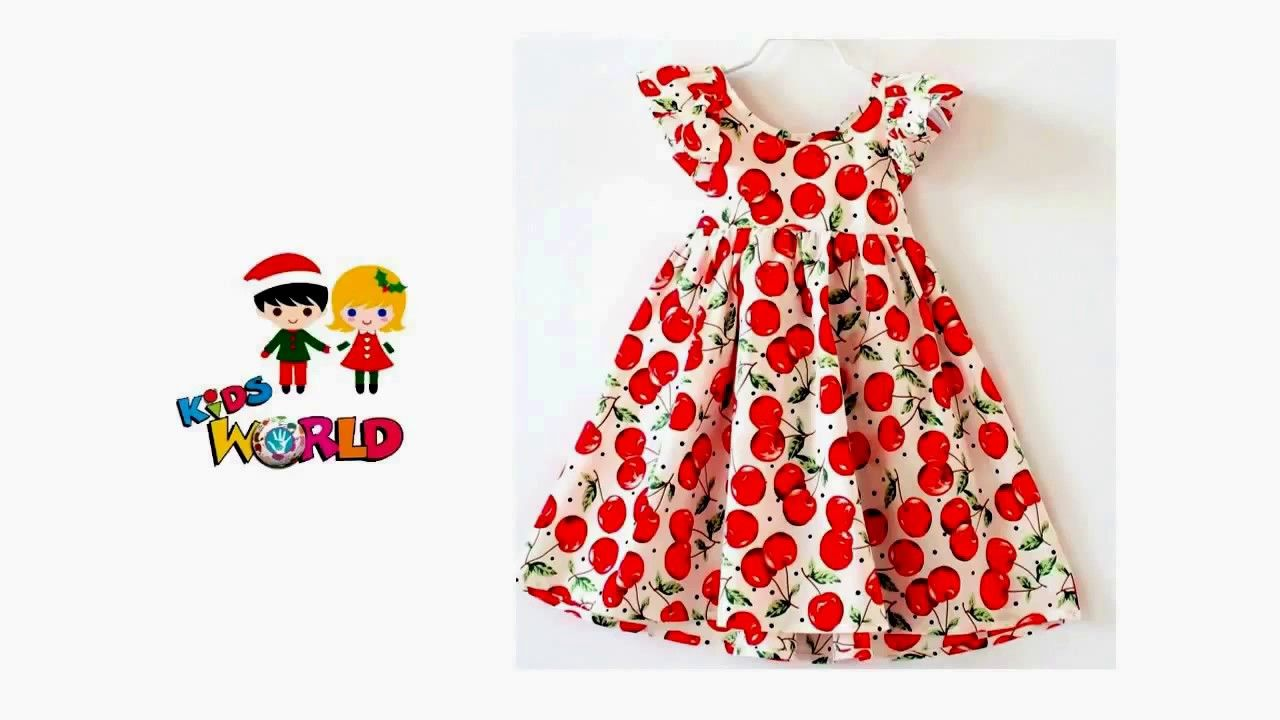 Kids Summer Simple Cotton Frock Designs Easy to Make at Home