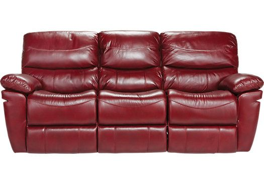 Sectional Sofas Shop for a La Verona Red Leather Power Sofa at Rooms To Go Find Leather