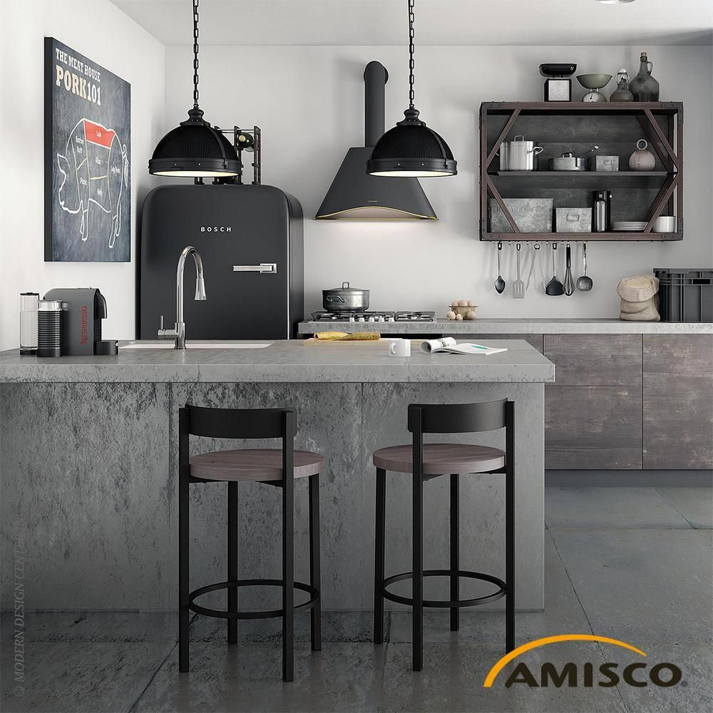 Zoe Non-swivel Wood Stool by Amisco #KitchenFurniture ...