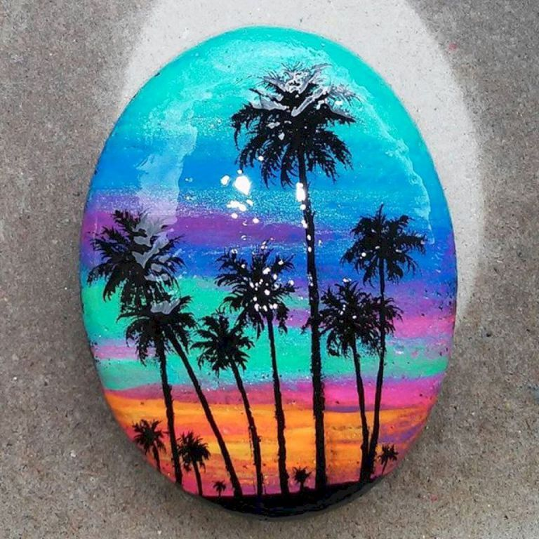 Beauty and cute rock painting ideas 50 rock art rock - Painting rocks for garden what kind of paint ...