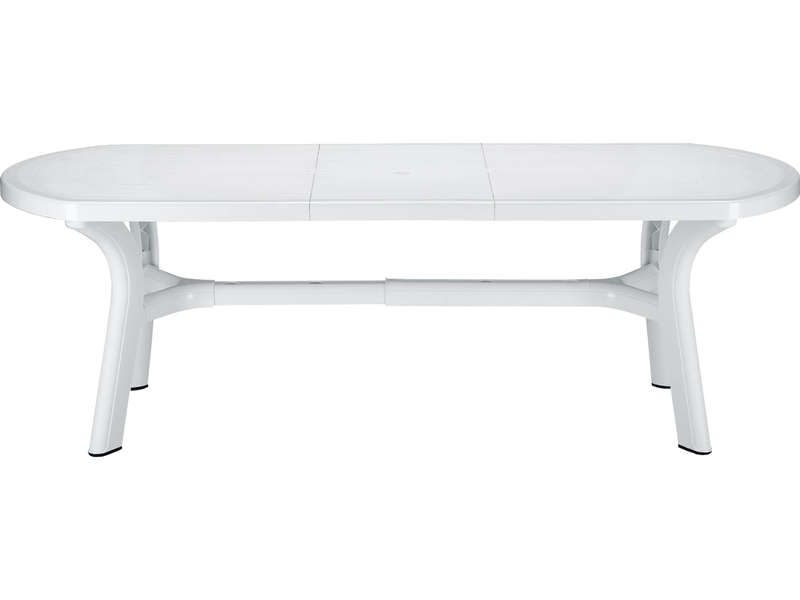cool Table de jardin 90x180 cm PAGODA coloris blanc - Conforama - Conforama Tables De Cuisine