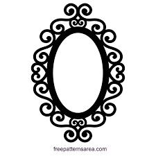 Resultado De Imagen Para Frame Svg Oval Frame Silhouette Frames Frame Design