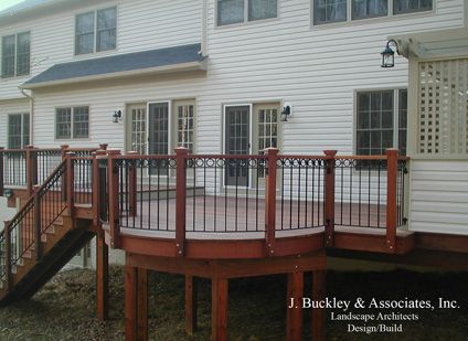 Best Wrought Iron Deck Rail Mahogany Decking Deck Railings Deck 400 x 300