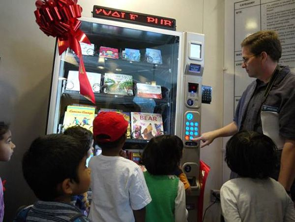 First Vending Machine Library Opens In Santa Clara County, California to improve reading and literacy rates among children.