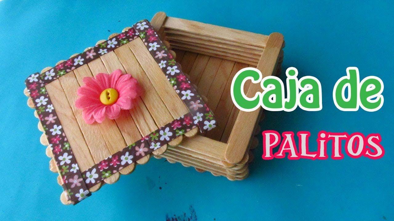 Caja de Palitos de Paleta// Manualidad para el día de las Madres | Palitos  de paleta manualidades, Manualidades, Manualidades con palitos de helado
