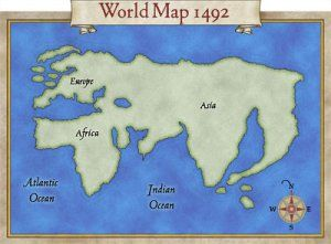 World map of 1492 American history Pinterest Early explorers