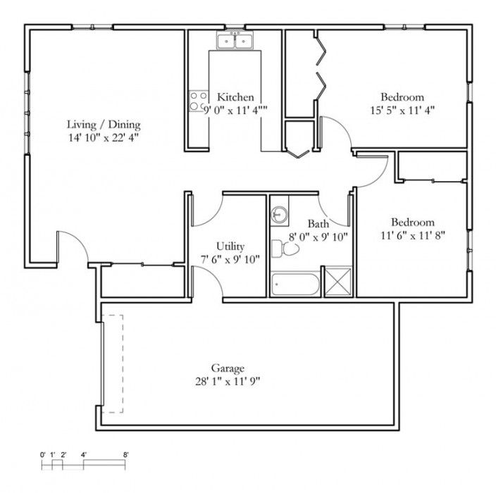 Best Bedroom Cabin Floor Plans Basic House Bedrooms One Loft Home Ideas Picture Bungalow Floor Plans Cabin Floor Plans Cottage Floor Plans