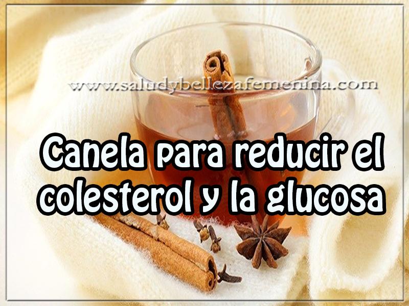 Canela para reducir el colesterol y la glucosa