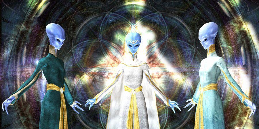 Arcturian crystal alien anime sketch
