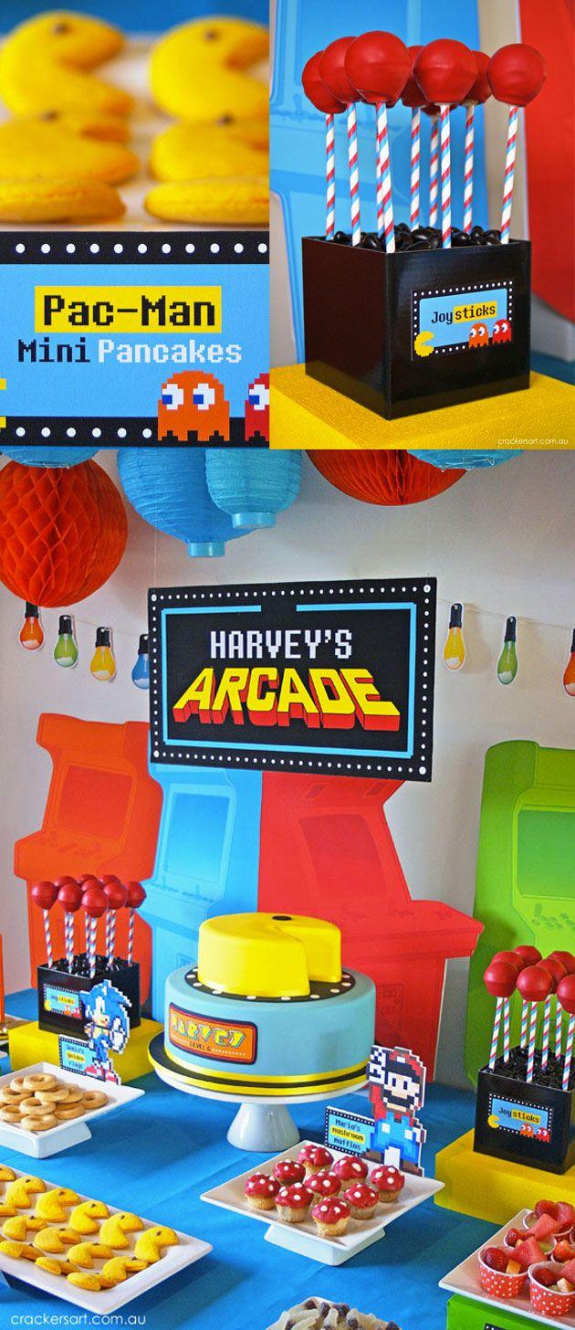 Un Anniversaire Arcade Deco Par Fête Parties Decor