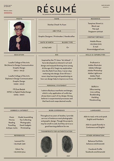 Résumé | It\'s All in the Details | Pinterest | Singapore, Designers ...