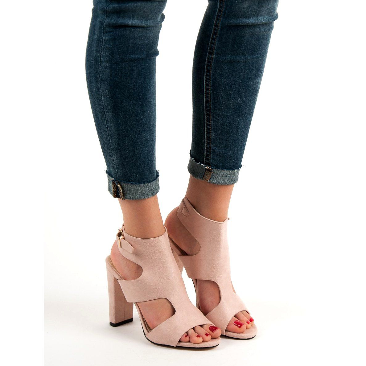 77d3576eddba11 #Sandały #Damskie #IdealShoes #Ideal #Shoes #Brązowe #Seksowne #Sandałki