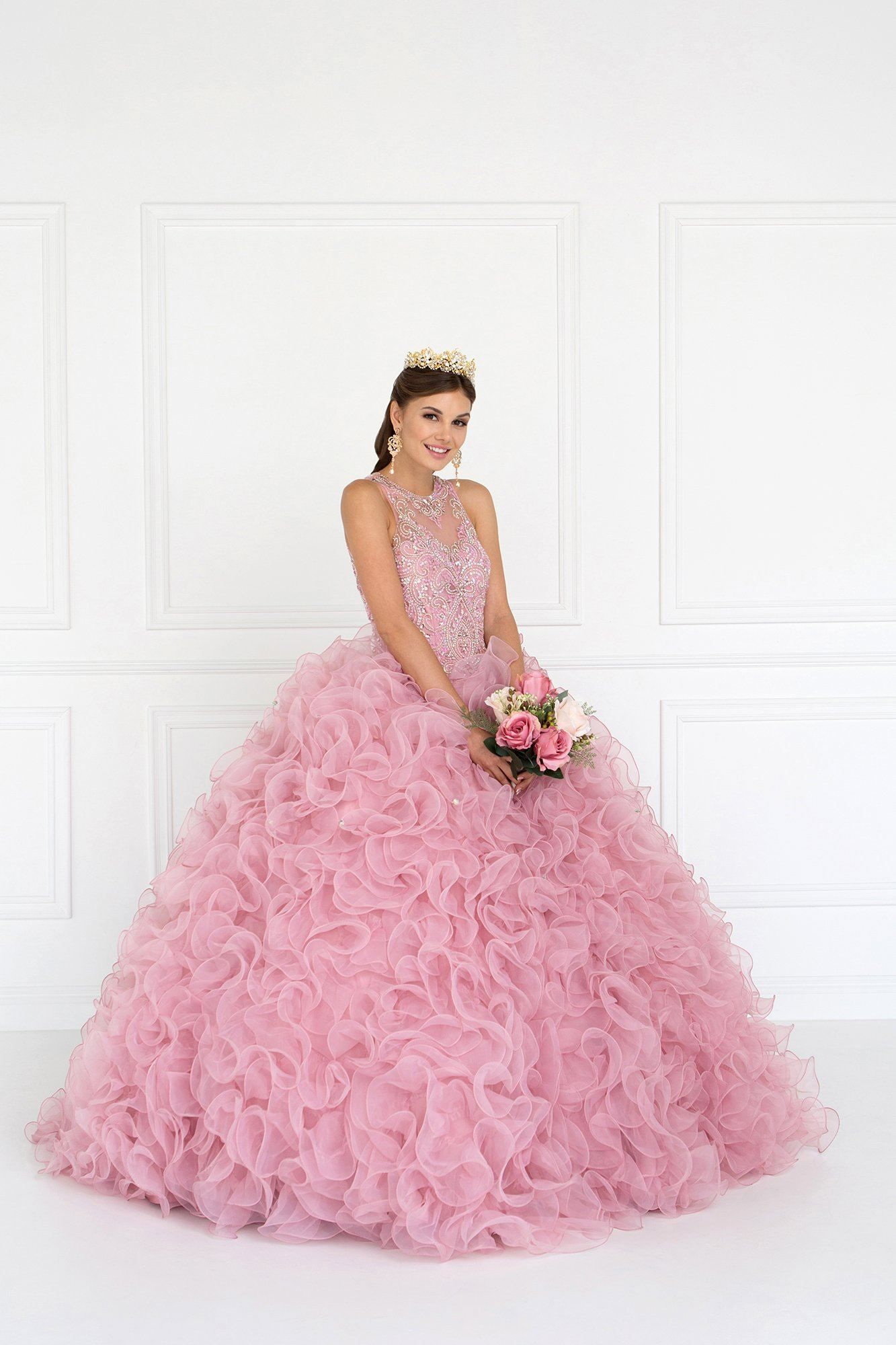 5383b1ddd4 Pink puffy quinceanera dress in 2019