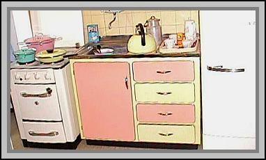 Traumhafte 50er Jahre Pastell Resopal Einbauküche TKS