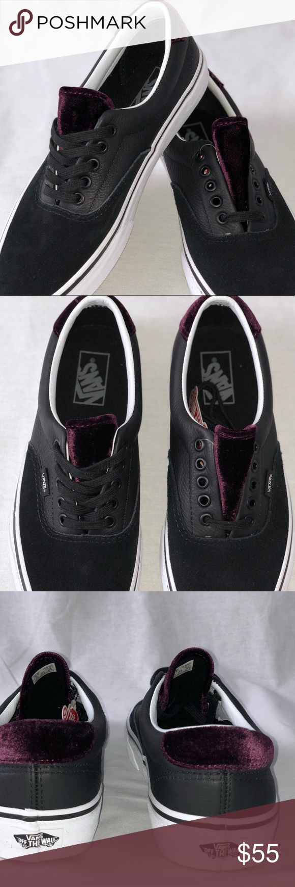 bc1c8c2f71 Vans Era 59 Velvet Black Red Unisex Skate Shoes Vans Era 59 Velvet Black Red  Unisex Skate Shoes. Size Women s 10