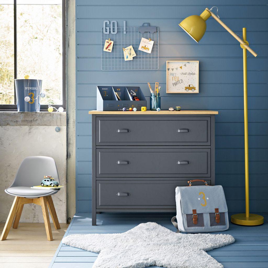 Une Chambre Pour Garcon En Bleu Et Jaune Chambre Garcon Couleur
