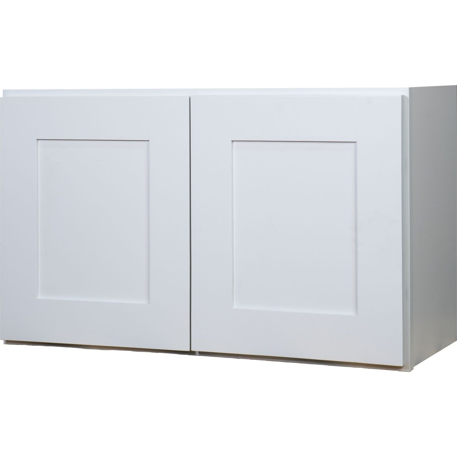 DOUBLE DOOR BRIDGE WALL CABINET IN SHAKER WHITE WITH 2 SOFT CLOSE ...