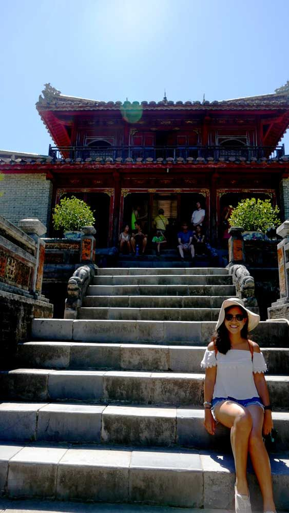 At one of the temples in Minh Mang Tomb, Hue, Vietnam.