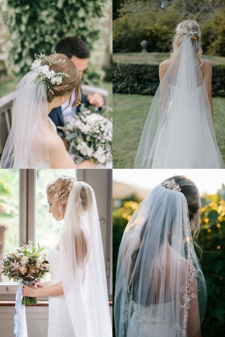 20 Wedding Hairstyles For Long Hair With Veils In 2020 Wedding Hairstyles For Medium Hair Headpiece Wedding Blonde Bridal Hair