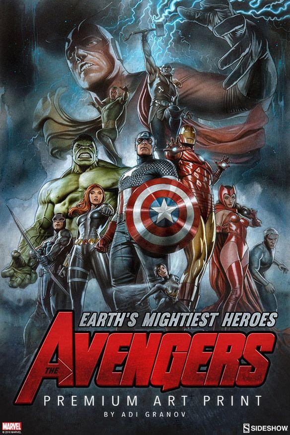 Avengers Earth S Mightiest Heroes Premium Art Print Marvel