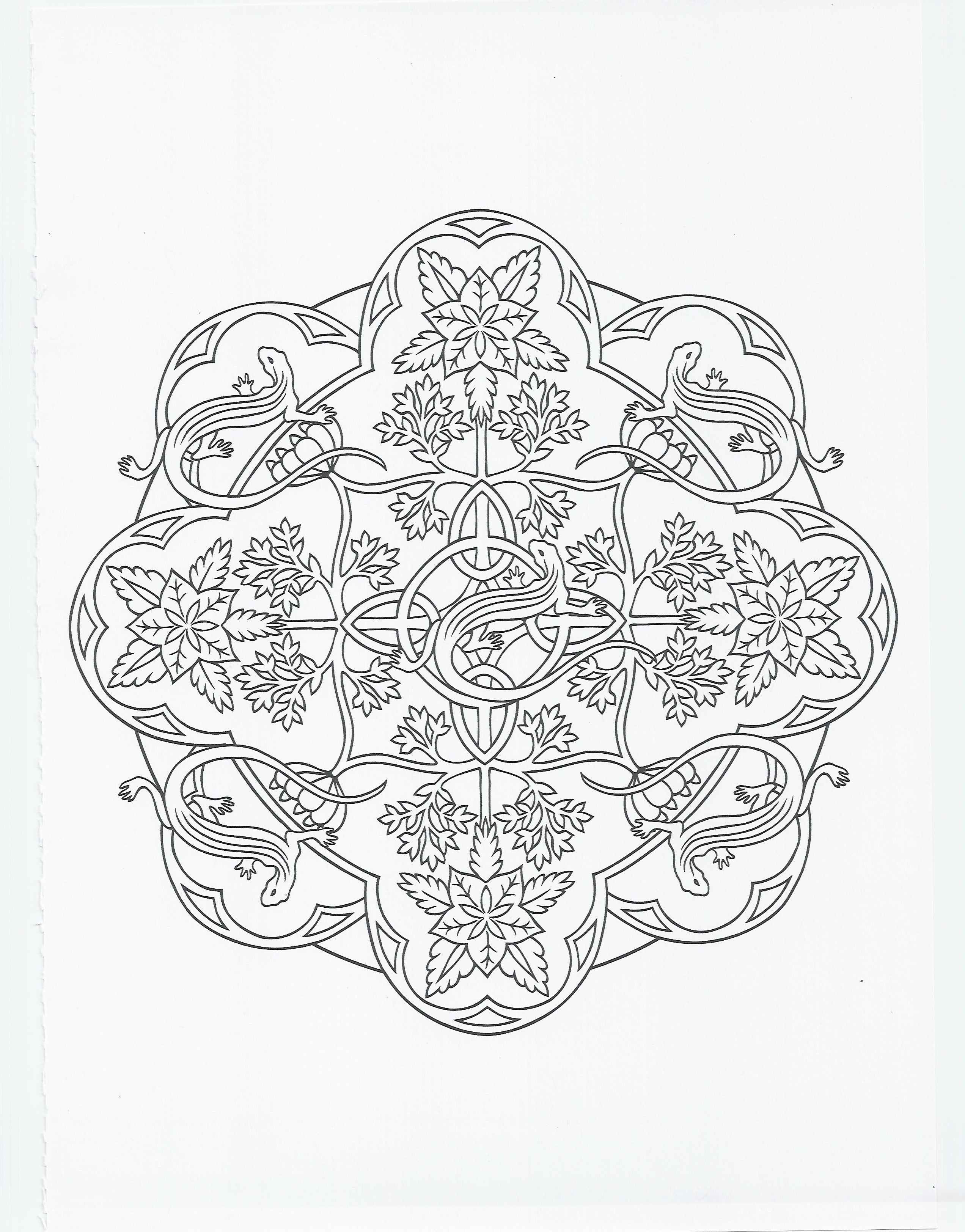 animal mandala - lizard | Coloring Pages | Coloring pages ...