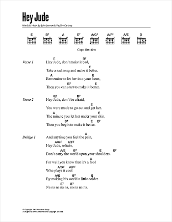 Image Result For Hey Jude Guitar Chords Muzika In 2018 Pinterest