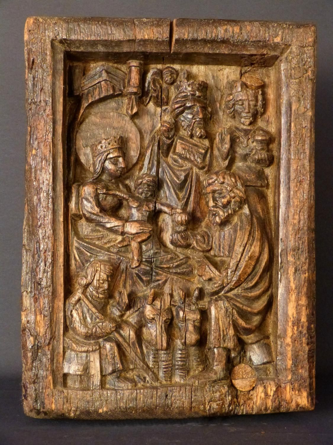 Antique for sale gothic sculpture adoration of the magi