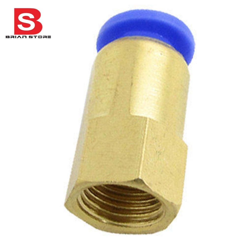 Dia Hose Female Thread Straight Push In Pneumatic Quick Connector Fittings Spcf Fittings Hose Connector