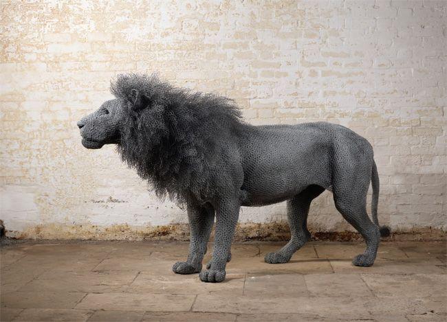 Kendra Haste Fantastic Wire Mesh Animals Animal Sculptures Sculpture Art Muse Art