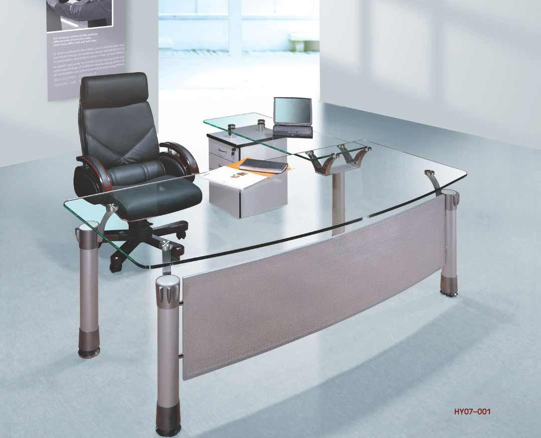 Modern Glass Top Office Desk Model With Images Office Furniture Design Modern Office Table Desks For Small Spaces