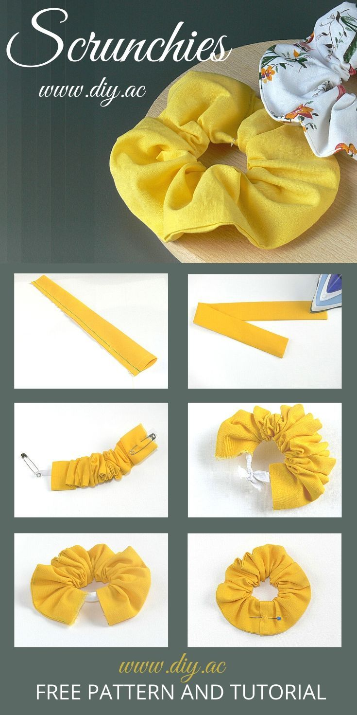 How to make scrunchies step by step