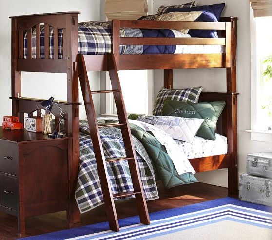 Kendall Twin Over Twin Bunk Bed With Images Cool Bunk Beds