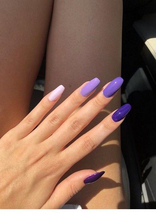 Purple Nail Tones Purple Nails Acrylic Nail Designs Simple Nails