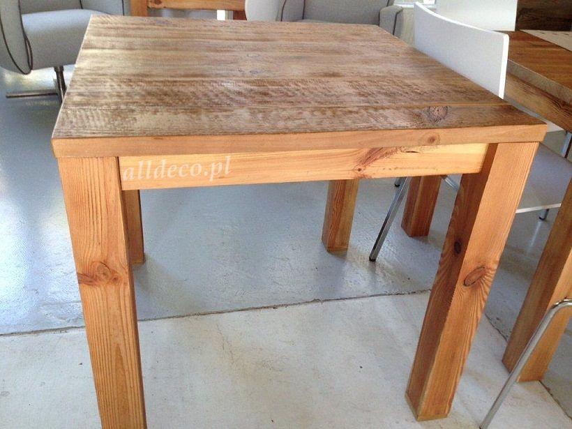 Stolik Ze Starego Drewna Table Basse En Vieux Bois Stoły