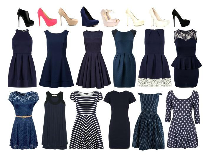 What Color Shoes Go With A Navy Blue Dress Colour