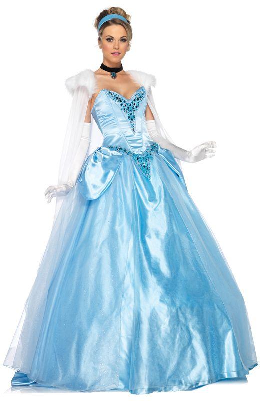 Disney Princess Deluxe Cinderella costume   party ideas   Pinterest ...