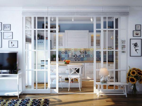 Стеклянные перегородки в квартире: свойства, разновидности, установка
