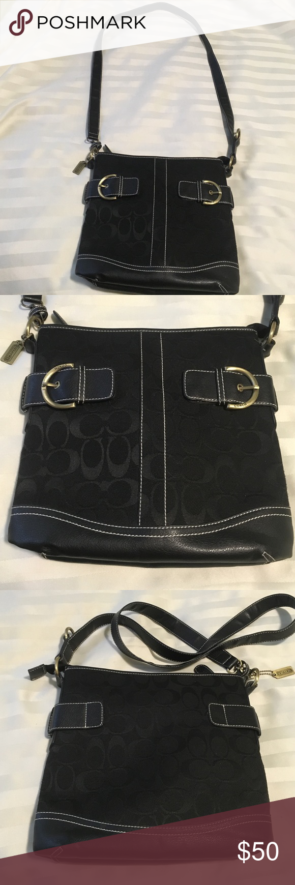 9e76070c8ff Signature coach cross body purse This purse is pre-loved on the inside but  in