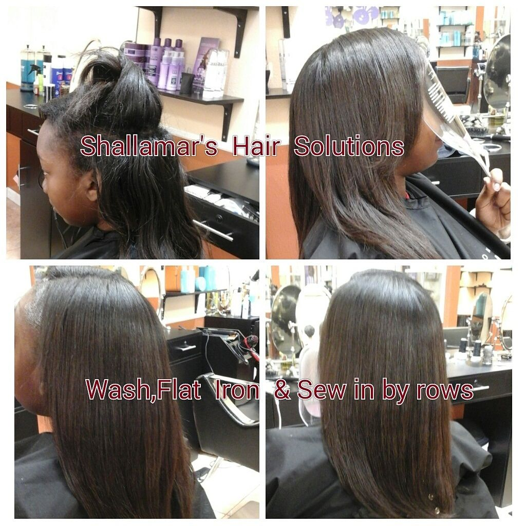 Kids Sew In By Row Sew In With Leave Out In 2019 Hair