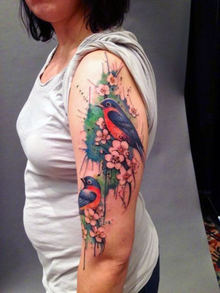 Colorful Bird Arm Tattoo Tattoos Tatuaże I Wzory Tatuaży