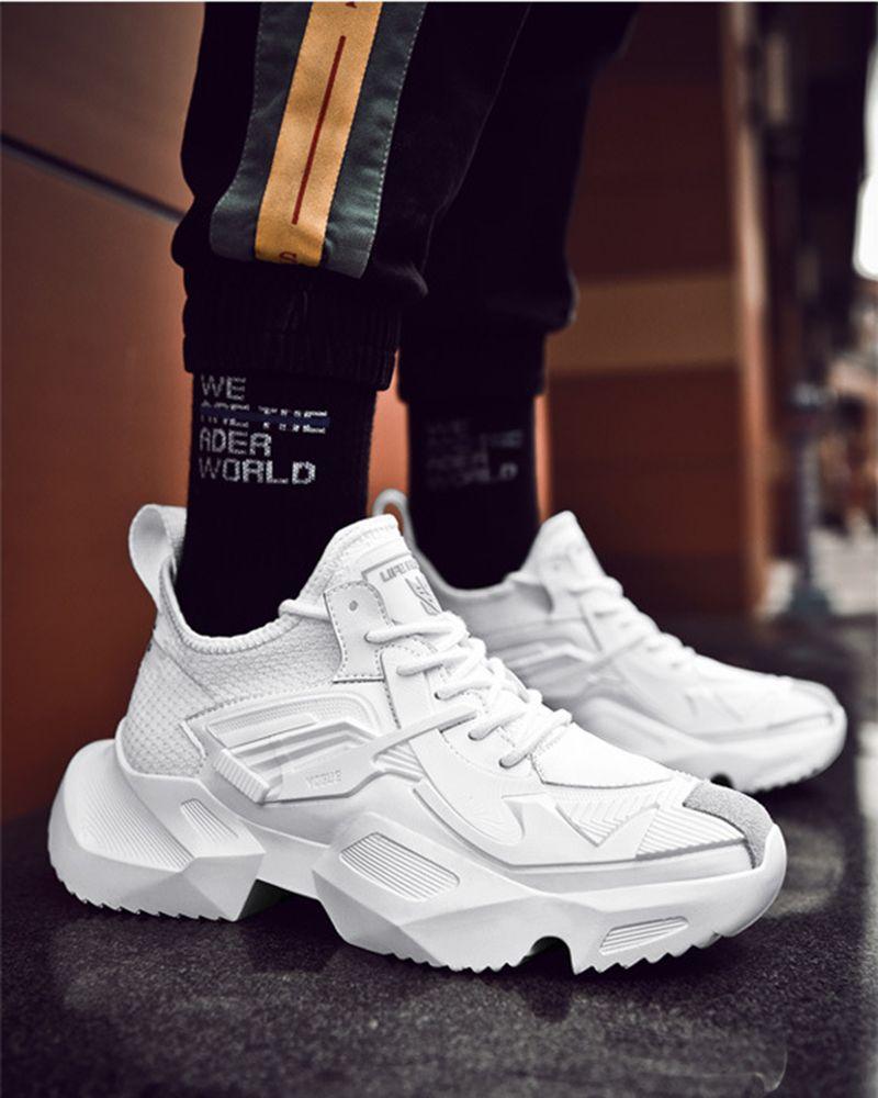 2019 Kanye Platform Sneakers | Erkek spor ayakkabıları