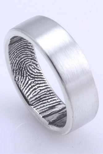 Fingerprint Wedding Bands On Pinterest